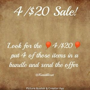 🎈4/$20🎈SALE!!!! and a ❗2/$20❗ Sale 🎉🎉🎉